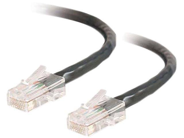 C2G 22707 25 ft. Cat 5E Black Assembled Patch Cable