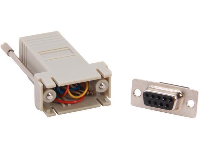 C2G 02941 RJ45 to DB9 Female Modular Adapter - Gray