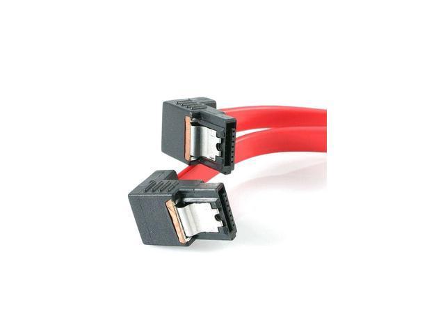 "StarTech LSATA18RA2 18"" Latching SATA Cable M/M 2 Right Angle"