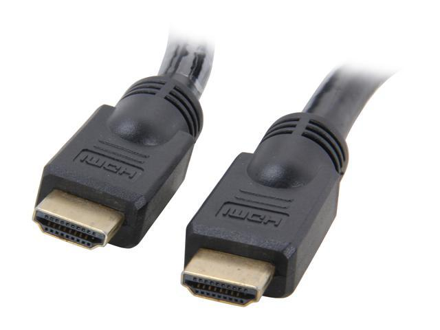 StarTech HDMIMM20 20 ft Black Connector A: 1 - 19 pin HDMI® Male  Connector B: 1 - 19 pin HDMI® Male High Speed HDMI® Cable M-M