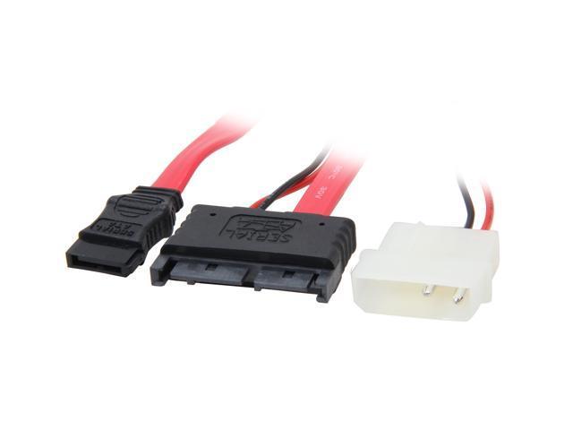 "StarTech MCSATAM12 12"" Micro SATA to SATA with LP4 Power Cable Adapter"