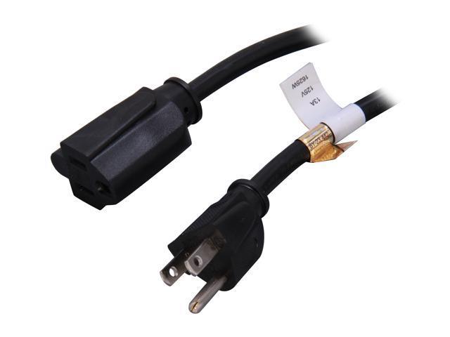 StarTech Model PAC10110 10 ft. Power Cord Extension - NEMA 5-15R to NEMA 5-15P
