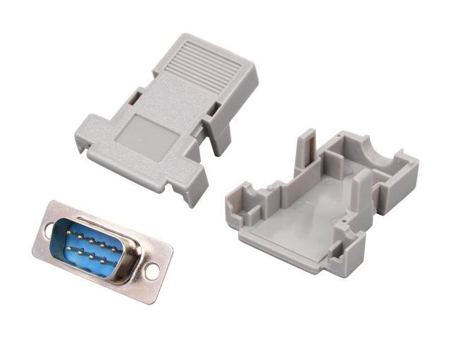 StarTech C9PSM Assembled DB9 Male Solder D-SUB Connector with Plastic Backshell
