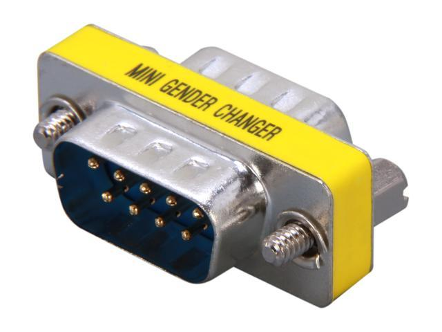 StarTech GC9SM Slimline Serial DB9 Gender Changer - M/M