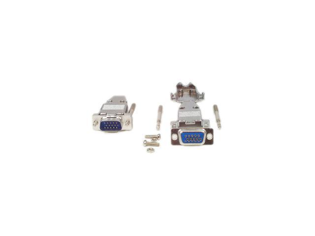 StarTech C15HPSMMETAL Assembled HD15 Male Solder D-SUB Connector with Metal Backshell
