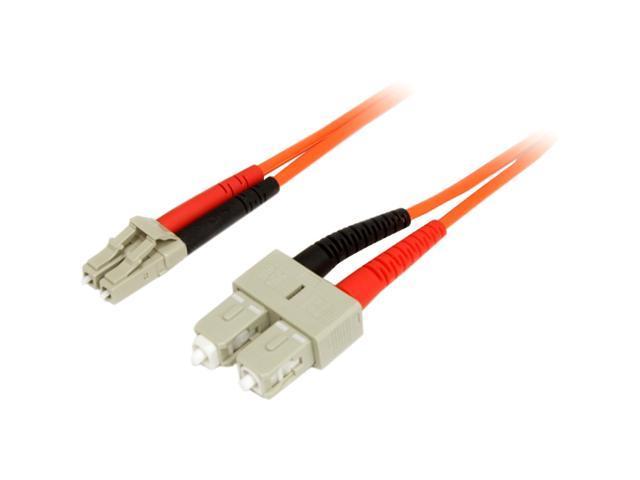 StarTech FIBLCSC3 9.84 ft. Multimode 62.5/125 Duplex Fiber Patch Cable M-M