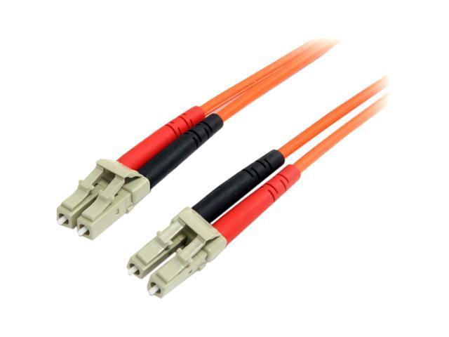 StarTech FIBLCLC1 3.28 ft. Multimode 62.5/125 Duplex Fiber Patch Cable LC - LC M-M