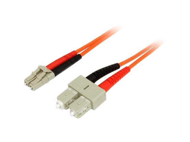 StarTech FIBLCSC10 32.8 ft. Multimode 62.5/125 Duplex Fiber Patch Cable LC-SC