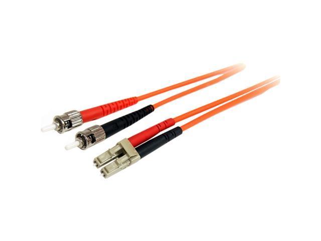 StarTech FIBLCST2 6.4 ft. Multimode 62.5/125 Duplex Fiber Patch Cable LC - ST