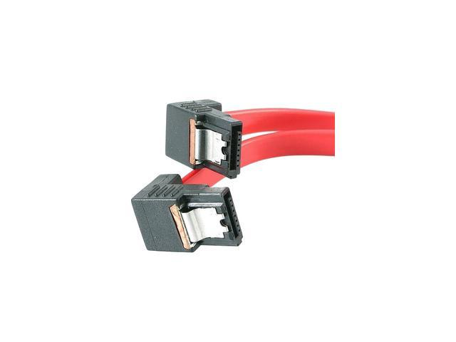 "StarTech LSATA12RA2 12"" Right Angle Latching SATA Cable"