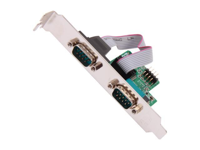 StarTech ICUSB232INT2 24in Internal USB Motherboard Header to 2 Port Serial RS232 Adapter
