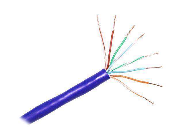 CP TECHNOLOGIES E-207-4P-C5-BLS 1000 ft. Cat 5E Blue Solid Bulk Network Cable