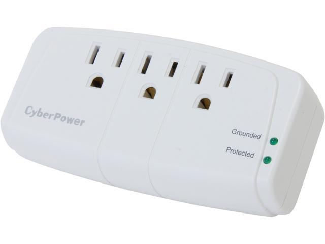 CyberPower CSB300W 3 Outlets 900 Joules Surge Suppressor