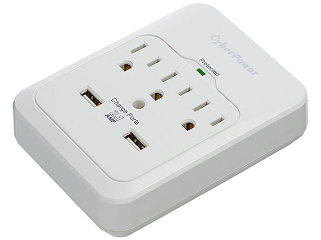 CyberPower CSP300WUR1 3 Outlets 600 Joules Surge Suppressor