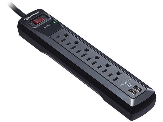 CyberPower CSP604U 4' 6 Outlets 1200 Joules Surge Suppressor