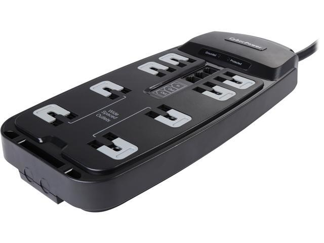 CyberPower 6 Feet 8 Outlets 2250 Joules Surge Protector (P806T)