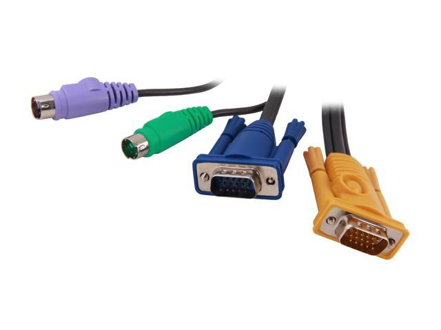 IOGEAR 6 ft. PS/2 KVM Cable G2L5202PTAA