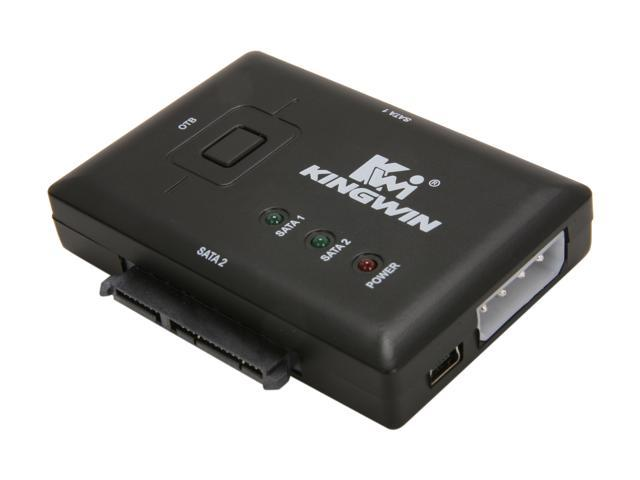 KINGWIN KWI-S2 USB 2.0 to Dual SATA Adapter w/ OTB