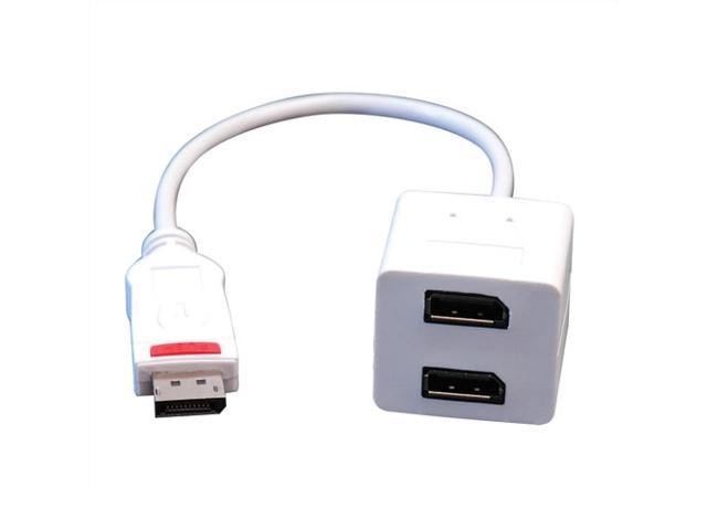 Tripp Lite P584-001-D2D 1 ft. White Displayport to Displayport Splitter, Male to 2 x Female M-F