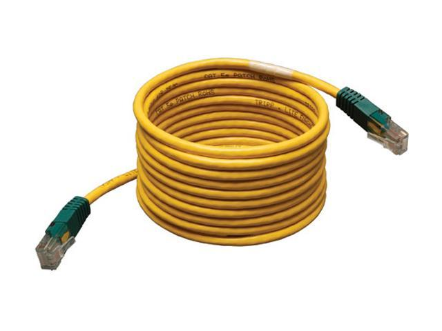 TRIPP LITE N010-010-YW 10 ft. Cat 5E (Crossover) Yellow Molded Patch Network Cable