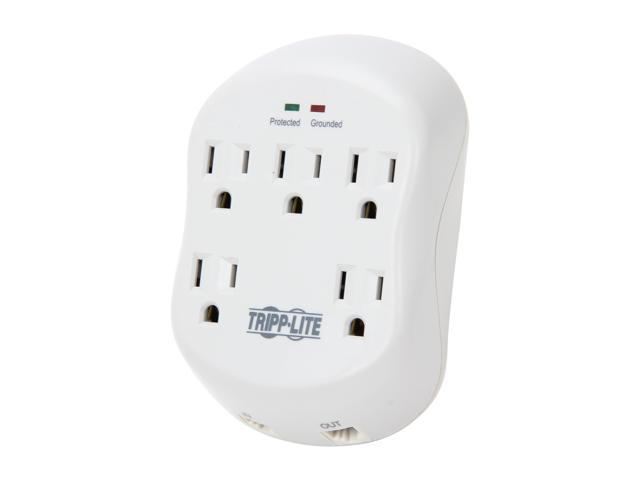 TRIPP LITE SK5TEL-0 5 Outlets 1080 joules Wallmount Direct Plug-In Protect It! Surge Suppressor
