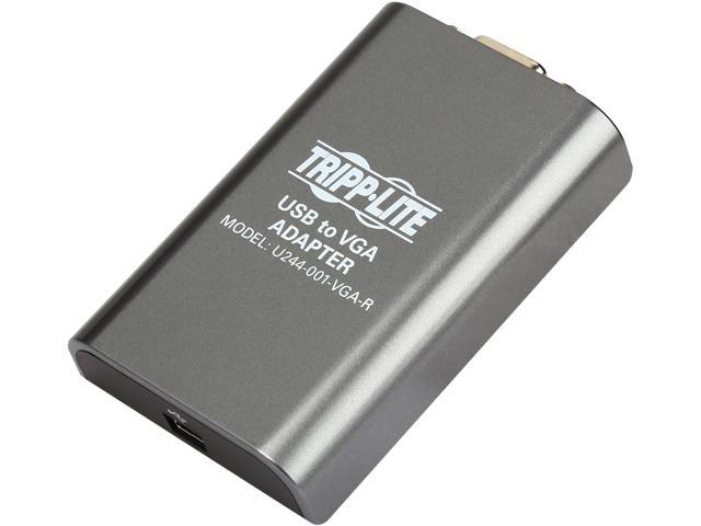 Tripp Lite USB 2.0 to VGA Dual/Multi-Monitor External Video Graphics Card Adapter, 128 MB SDRAM, 1080p @ 60hz (U244-001-VGA-R)