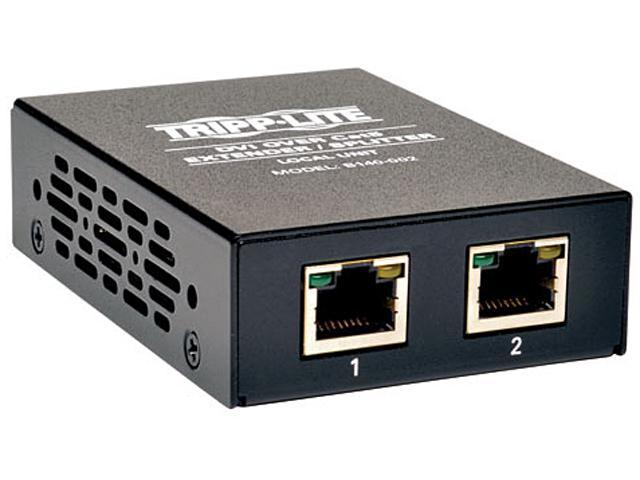 Tripp Lite DVI over Cat5 Extender/Splitter, 2-Port B140-002
