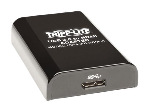 Tripp Lite USB 3.0 SuperSpeed to HDMI Dual Monitor External Video Graphics Card Adapter, 512 MB SDRAM (U344-001-HDMI-R)
