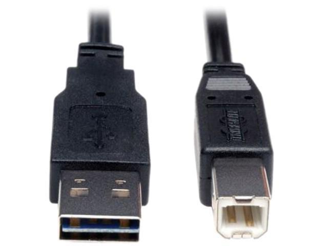 Tripp Lite Universal Reversible USB 2.0 A-Male to B-Male Device Cable - 6ft