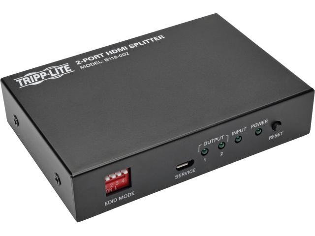 Tripp Lite B118-002 2-Port HDMI Splitter for Video with Audio