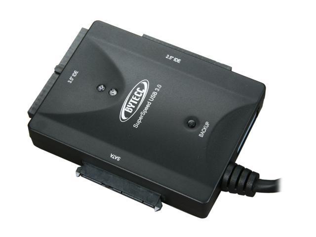 BYTECC BT-350 Super Speed USB 3.0 to SATA/IDE Adaptor w/ OTB(One Touch Backup)