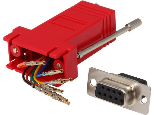 C2G 02944 RJ45 to DB9 Female Modular Adapter - Red