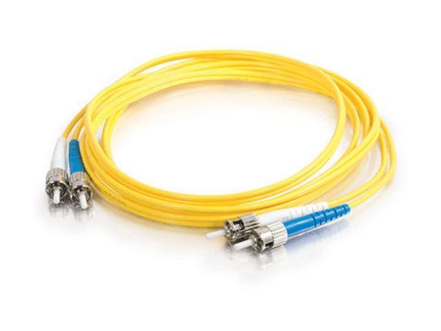 C2G 08353 6.56 ft. ST/ST Duplex 9/125 Single Mode Fiber Patch Cable