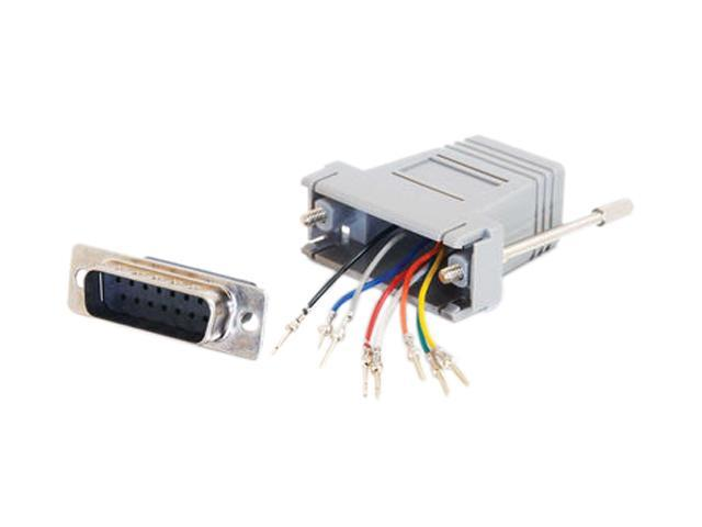 C2G 02926 RJ45 to DB15 Male Modular Adapter