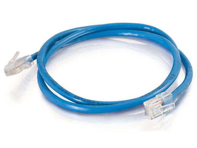 C2G 24491 3 ft. Cat 5E (Crossover) Blue 350 MHz Patch Cable