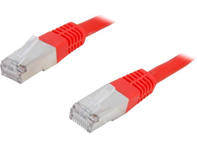 C2G 31200 3 ft. Cat 6 Red Shielded 550 MHz Molded Patch Cable