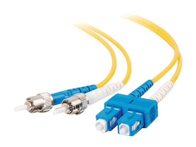 C2G 24762 16.40 ft. (5m) Yellow SC/ST Duplex 9/125 Single Mode Fiber Patch Cable
