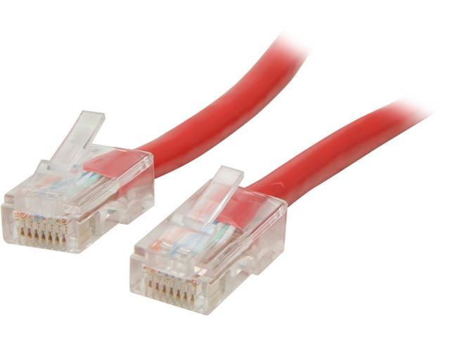 C2G 22705 25 ft. Cat 5E Red 350 MHz Assembled Patch Cable
