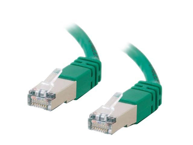 C2G 31221 3 ft. Cat 6 Green Shielded 550 MHz Molded Patch Cable