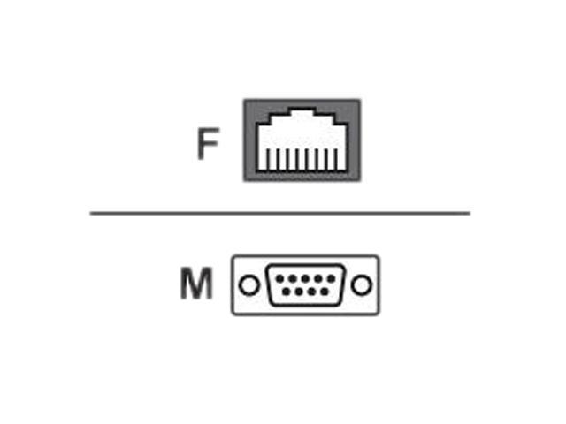 Avocent ADB0210 Cyclades DB9 Male to RJ-45 Female Adapter