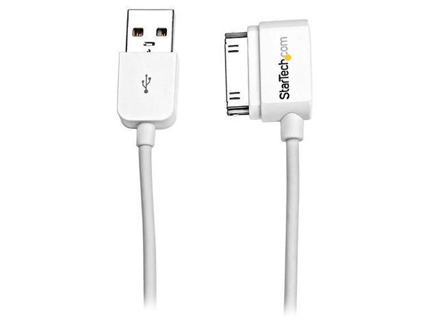 StarTech USB2ADC50CML White Short USB Left Angle Cable for iPhone / iPod / iPad with Stepped Connector
