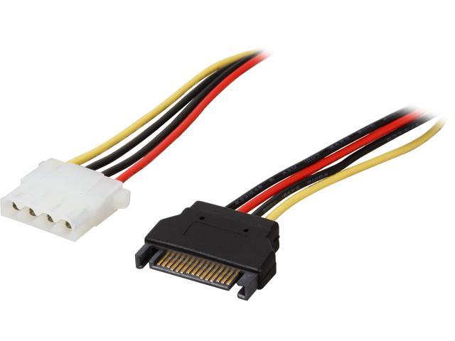 """StarTech LP4SATAFM12 12"""" SATA to Molex LP4 Power Cable Adapter"""