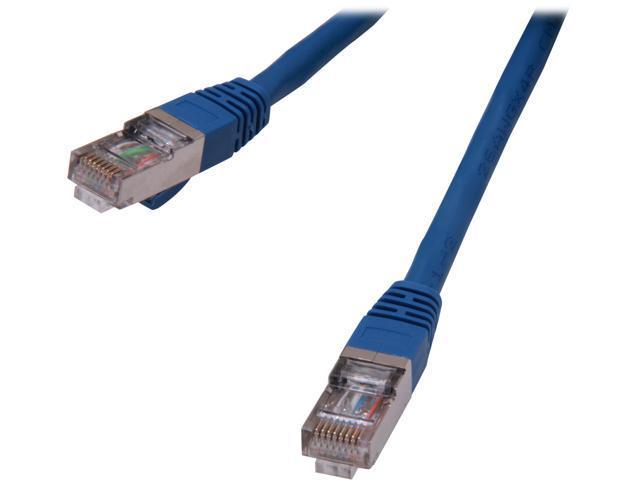 Coboc CY-CAT6A-STP-02-BL 2ft.26AWG Snagless Cat 6A Blue Color 550MHz SSTP(PIMF) Shielded Ethernet Stranded Copper Patch cord /Molded Network lan ...