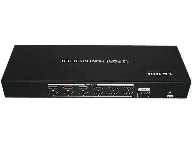 AWA Technology Inc. HM-SP14SX12 ROCKSOUL HDMI 1 to 12 Splitter Black