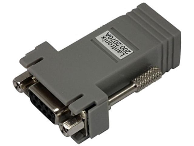 Lantronix 200.2070A RJ45 to DB9F Serial Adapter (DCE Device)