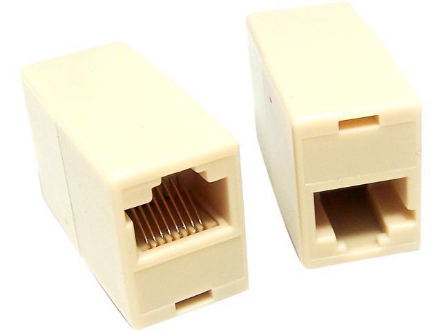 Micro Connectors C20-110L5-10 Micro Connectors Cat 5 RJ45 Coupler F-F - 10 Pack
