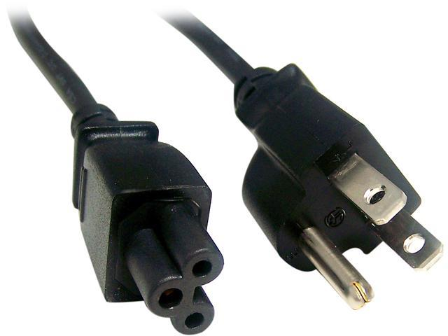 Micro Connectors Model M05-126 6 ft. Notebook AC Power Cord Polarized (3 Prong)