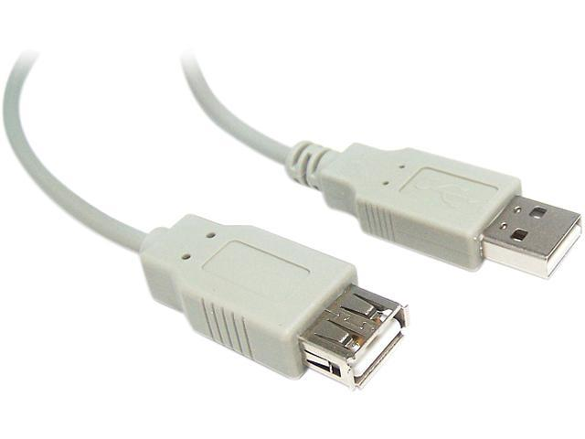 Micro Connectors E07-129 6 ft. Beige USB 2.0 Cable