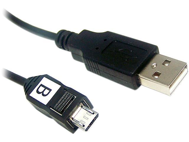 Micro Connectors E07-131 6 ft. Black USB to Micro USB Cable