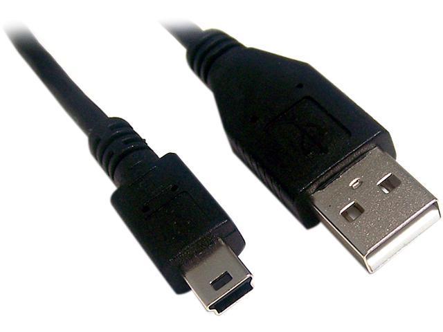 Micro Connectors E07-133-3 3 ft. Black Mini USB to USB Cable